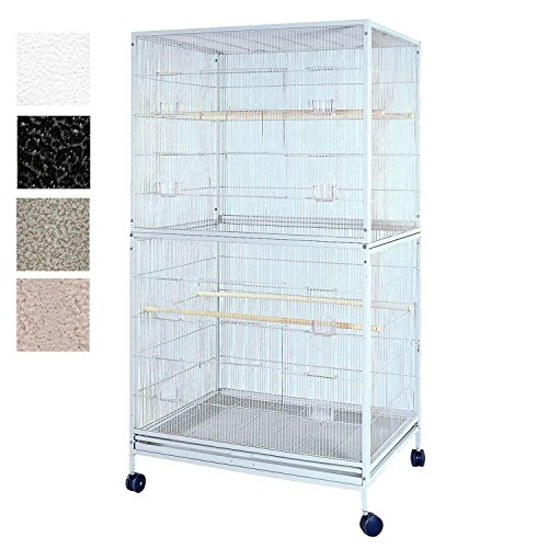 A&E Cage Co 4030FL Black Flight Bird Cage, X-Large/40