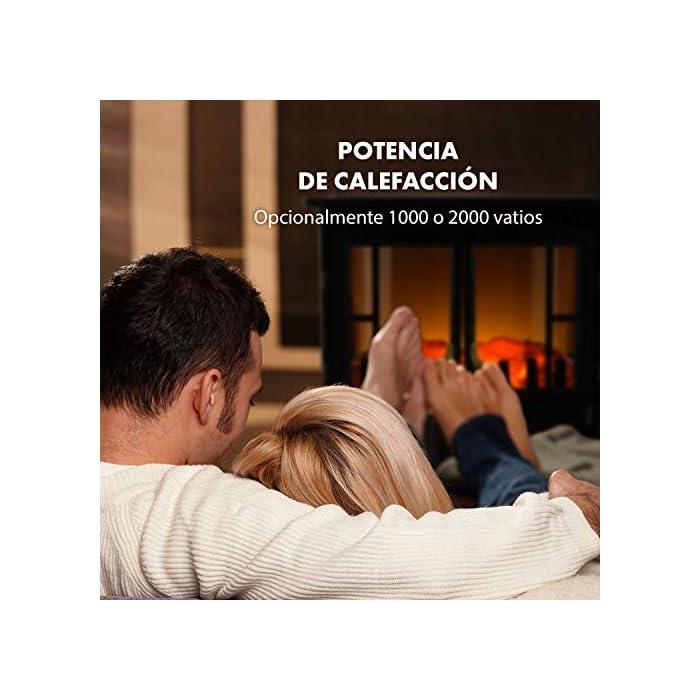 51U9Kt96S L PARECE DE VERDAD: La chimenea eléctrica Innsbruck de Klarstein maravilla con llamas simuladas en cualquier habitación. La luz tenue logra muy bien el efecto llameante del fuego con la leña ardiente y crea un ambiente romántico por toda la habitación. FUNCIÓN CALEFACTORA: Las llamas se mueven independientemente de la función calefactora incluso en noches de verano. Para tener un calor cómodo puedes activar su efecto calactor con una potencia de 1000 o 2000 W para calentar salas de hasta 30 m². FÁCIL DE USAR: El manejo de la chimenea eléctrica se realiza directamente en el aparato: Los interruptores están debajo de las puertas del horno. A través de un regulador, puedes modificar la temperatura e intensidad de los efectos llameantes.