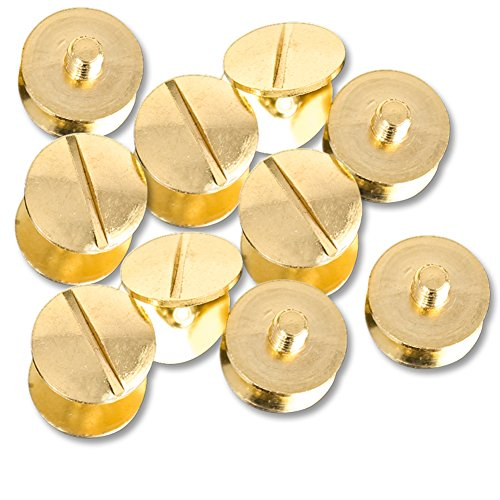 Set Of 10 Gold Replacement Screws For WWE, ROH, TNA, UFC Replica Belts ()