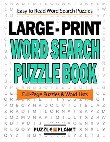 Book Large Print Word Search Puzzle Book: Volume 1 (Word Search Puzzle Books For Adults)