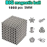 DOTSOG 2019 Upgraded Ball, 5MM 1000 Pieces Sculpture Building Blocks Toys for Intelligence DIY Educational Toys& Stress Relief for Adults (1000)