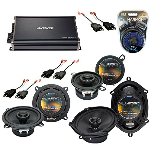 - Fits Chrysler Laser 84-89 OEM Speaker Upgrade Harmony R5 R35 R68 & CXA300.4 Amp (Renewed)