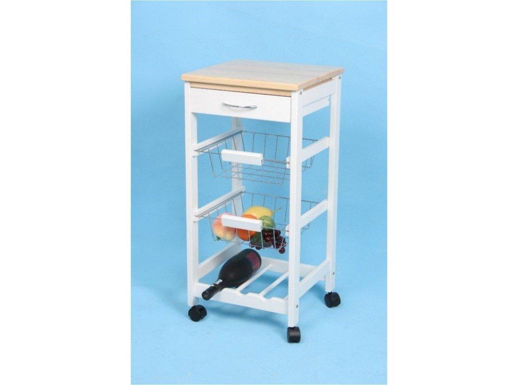 Kit Closet 7040028002 - Carrello da cucina con ceste + portabottiglie, legno Closet norte