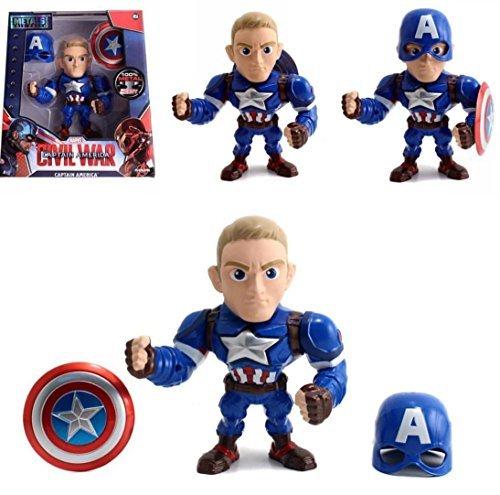 Jada Metals Die Cast 6 Inch Action Figure Captain America Civil War M56 (The Cast Of Captain America Civil War)