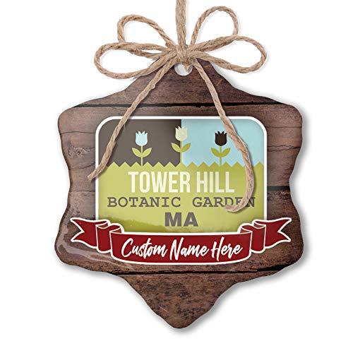 Botanic Garden Tower - NEONBLOND Custom Family Ornament US Gardens Tower Hill Botanic Garden - MA Personalized Name
