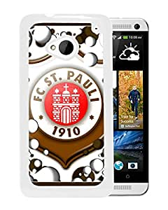 New Fashion Custom Designed Skin Case For HTC ONE M7 With St Pauli White Phone Case 1