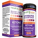 Ketone Strips 125ct - Great for Diabetics & Ketosis, Professional Grade Ketone Urine Test Strips for Use in Atkins Diet, Weightloss, Low Carb, Ketogenic & Paleo Diet, Urinalysis Strips 99% Accuracy