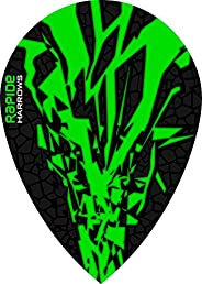 10 x Sets Harrows Rapide X Green Dart Flights Pear