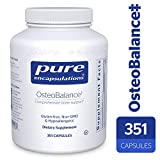 Pure Encapsulations – OsteoBalance – Hypoallergenic Supplement to Promote Calcium Absorption and Enhance Healthy Bone Mineralization* – 351 Capsules Review