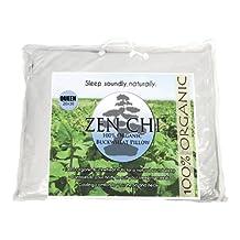 "Buckwheat Pillow - Zen Chi Organic Buckwheat Pillow - Queen Size (20"" X 30"")"