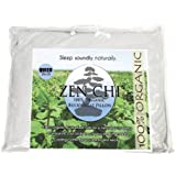 "Buckwheat Pillow - Zen Chi Organic Buckwheat Pillow Queen Size (20"" X 30"")- 100% Cotton Cover with Organic Buckwheat Hulls"