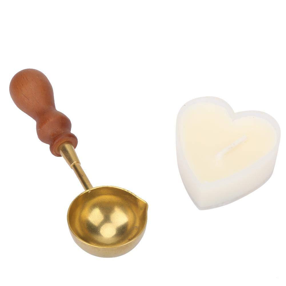 Kits de Calentador de Sello de Cera de estilo europeo con Cuchara de Fusi/ón Perlas de Cera Palos Herramienta de Calentamiento para Hacer Invitaciones de boda