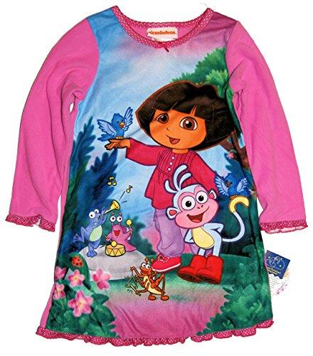 Girls 2t 4t Dora - Dora the Explorer Toddler Girls 2T-4T Fleece Nightgown (2T) [Apparel]