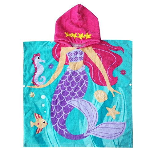 KUFUNG Hooded Towel for Girls 1 to 5 Years Old Kids and Todd