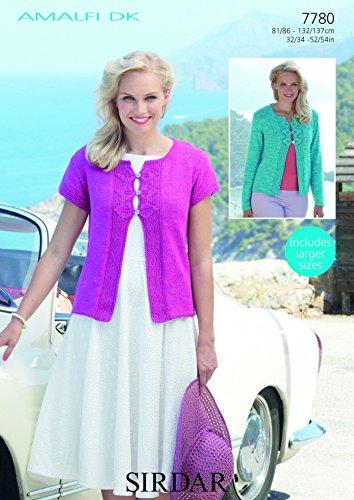 f00d93855fa3 Sirdar Ladies Cardigans Amalfi Knitting Pattern 7780 DK  Amazon.co.uk   Kitchen   Home