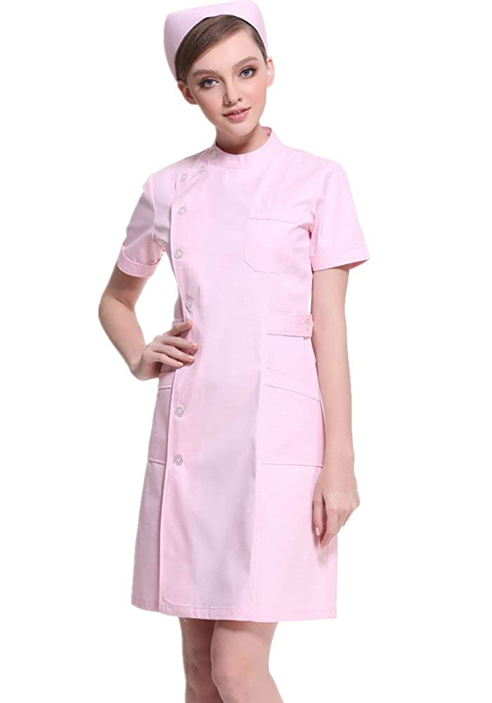 XinAndy Women's Lab Coat Uniform Dress