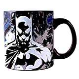 DC Comics Silver Buffalo BN110434D Batman Splatter Glow in The Dark Ceramic Mug, 20 oz, Multicolor