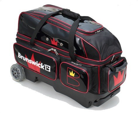 ブランズウィック社 3ボールバッグ BC200ブラックレッド B06VV75BDD