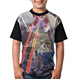 Kitty Invasion Kids Boys Girls Graphic Short Sleeve Funny Round Neck Tee Tshirts X-Large