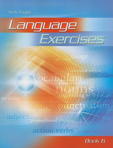 Language Exercise: Student Workbook by STECK-VAUGHN