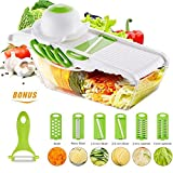 Mandoline slicer from Tony's Homely, vegetable slicer, cheese cutter, 6 BLADES stainless steel, food storage container, vegetable cutter, mandolin, kitchen slicer, adjustab