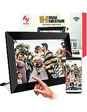 WiFi 1080p HD digitale fotolijst met gratis app, Deel foto's en video's onmiddellijk, Persoonlijke bijschriften, Meerdere gebruikers, 40.000 HD-foto's Capaciteit, Eenvoudige installatie