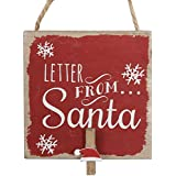 Traditional Christmas Letter From Santa Claus Peg Holder by Carousel Home