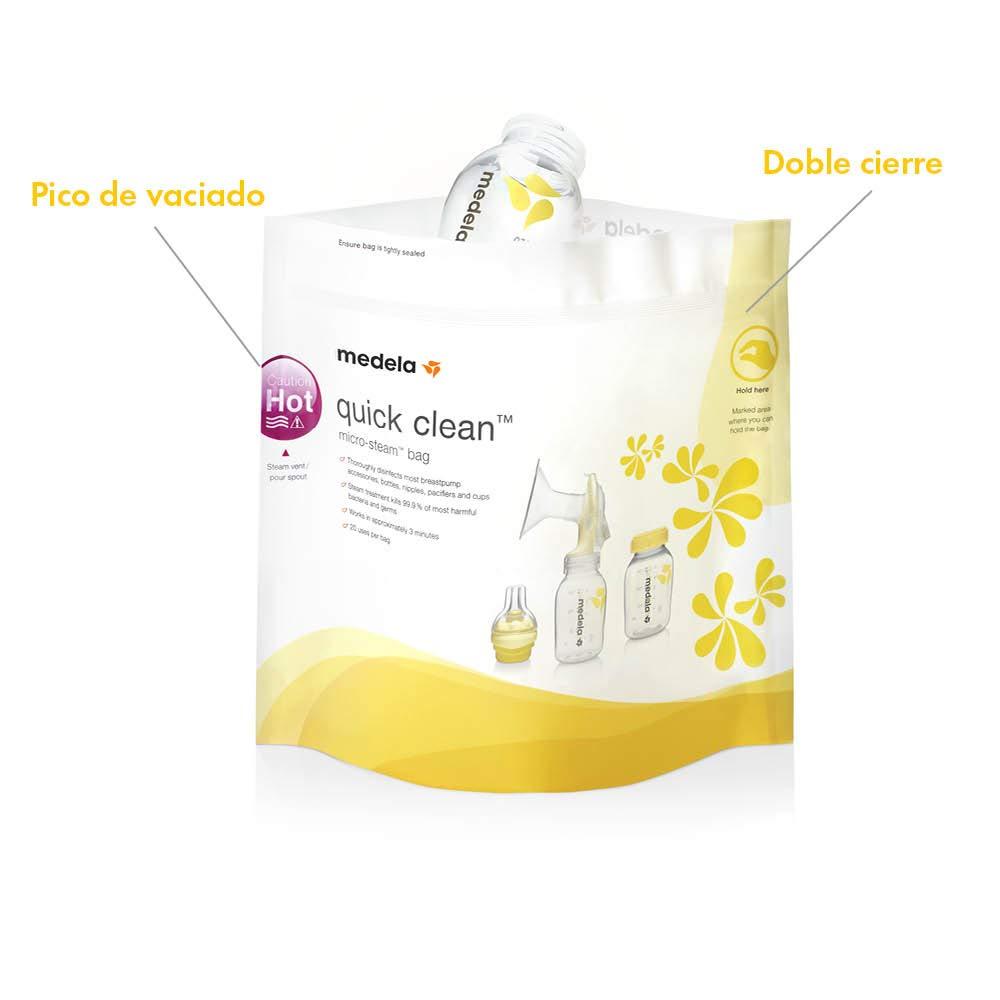 Bolsas de esterilización reutilizables Quick Clean, Medela
