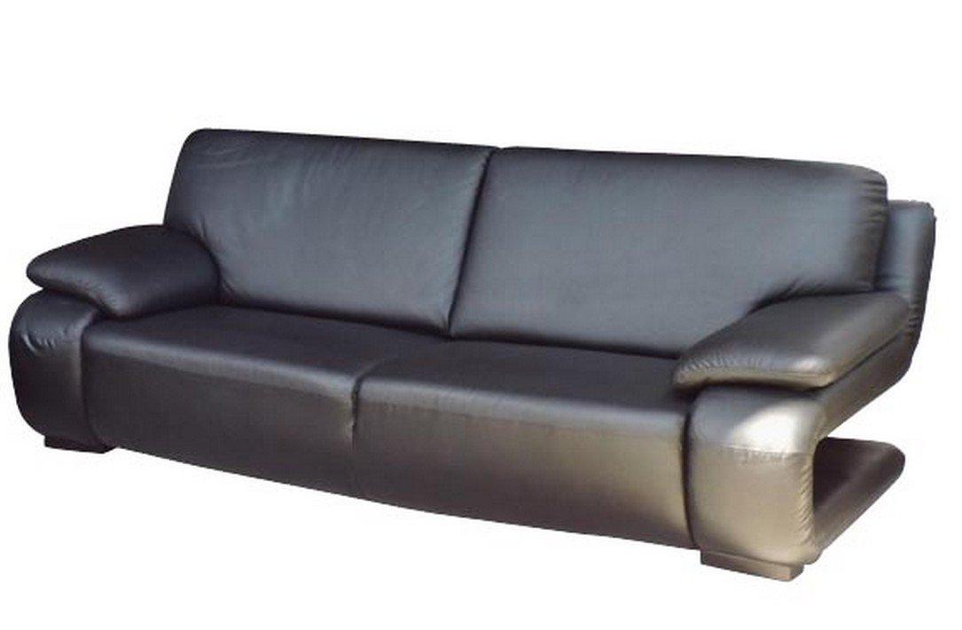 Designerledersofa Leder-Sofa-3 Sitzer Designercouch Dreisitzer neu 5172-3-S