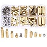 Hilitchi 120pcs M4 Male Female Brass Spacer Standoff Screw Nut Assortment Kit(Brass M4)