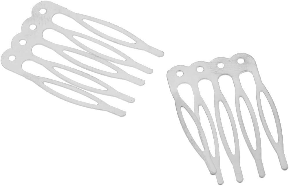 kowaku 20 St/ück Metalllegierung Haarspangen Seitenk/ämme Pin Haarspangen 5 Z/ähne Frauen Damen Handwerk