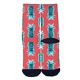 Fruits Pineapple TastyTube Socks Skateboard Sports Socks Street Fashion Socks Hip Hop Street Sport Socks Black