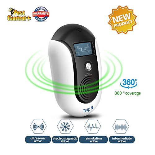 TangN Ultrasonic Electromagnetic Pest Repellent Electronic Control Smart Mosquito Repeller Plug in Home Indoor and Warehouse Get Rid of bug,rats,squirrel,Flea,Roaches,Rodent,Insect[2018 New product]