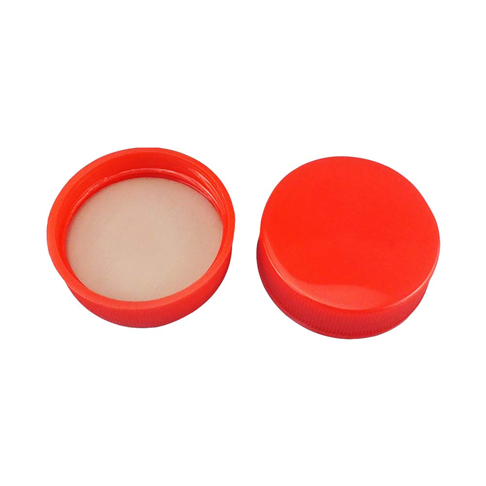 Adamas-Beta Red Coded Screw Cap, Internal Molded Seal Ring,Polypropylene,Ribbed Style Size D×H:36×12mm(Pack of 40)