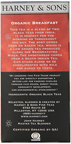 Harney and Sons Premium Tea Bags, 20 Count 5 A traditional blend of hand-picked black teas from India The Assam is mellowed a bit with a smooth south Indian Tea It can be enjoyed on its own or with milk and sugar