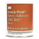 3M Scotch-Weld 1751 Aluminum Epoxy Adhesive, 1 Quart Container, Gray