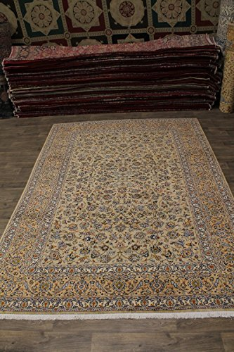 - Fanciful S Antique Handmade Light Kashan Persian Style Area Rug Oriental Carpet 9X13