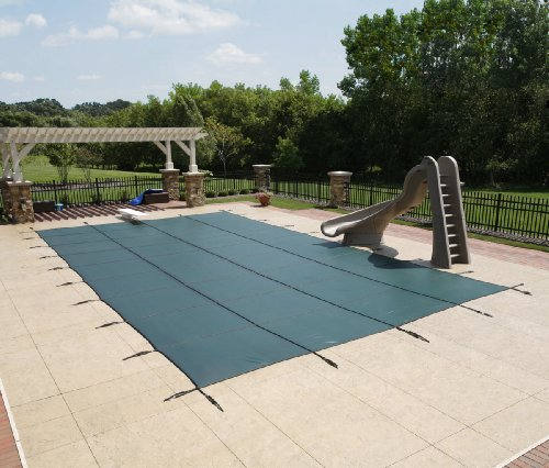 12' X 24' Rectangle In-Ground Pool Safety Cover - Green