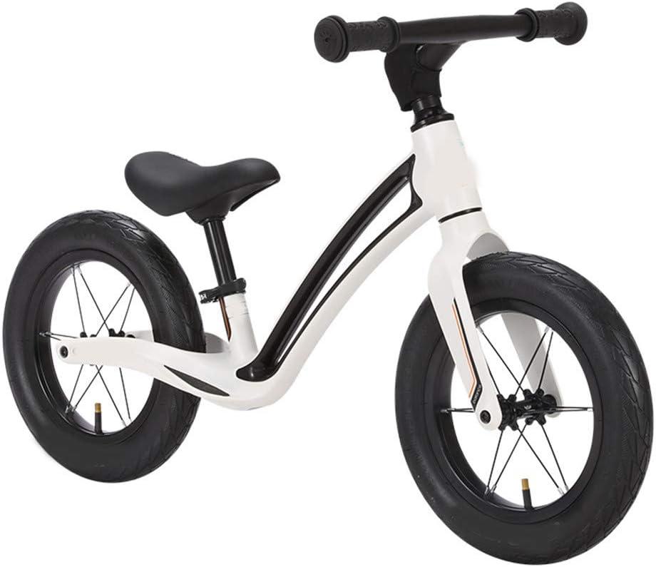 SSCYHT Bicicleta de Equilibrio para niños Bicicleta de Equilibrio para Principiantes para niños Bicicleta de Equilibrio Ligera Niños y niñas Adecuado para niños y niñas de 1.5-5 años,Blanco