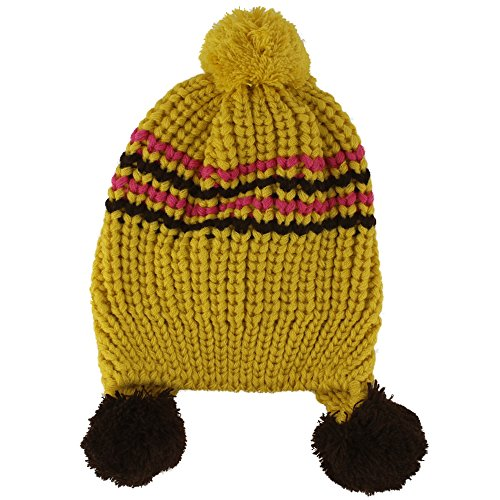 Capilene 2 Cap (Baby Girls Boys Cute Warm Two Balls Wool Knitted Caps Toddlers Children Hat)