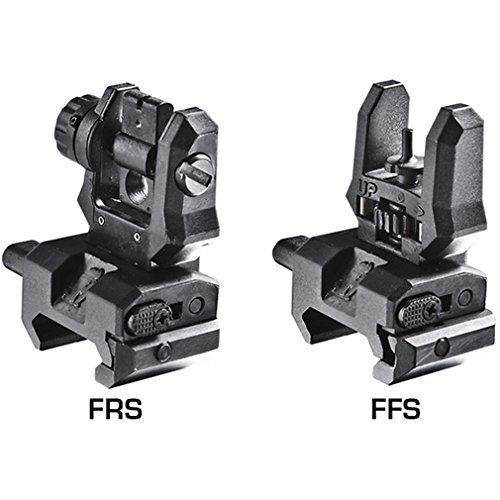 Command Arms Front & Rear Flip Up Low Profile Sights Picatinny Rail, Black