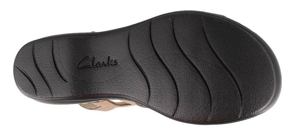 Clarks Damens's Leisa Claytin Strappy Strappy Strappy Sandale,Sand Leder,US 9 N  - a8b8c5