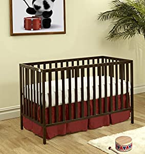 Suite Bebe Palmer 3 in 1 Convertible Crib, Espresso Finish