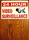 1Pc Extreme Popular Security Yard Signs Camera Protection 24Hr Outdoor Sign Recording Reflective Size 8