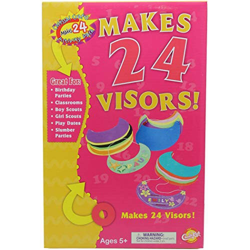 Creativity Street CK-5487-A1 Colossal Crafts Soft Foam Visors Kit, Assorted (Pack of 24)]()