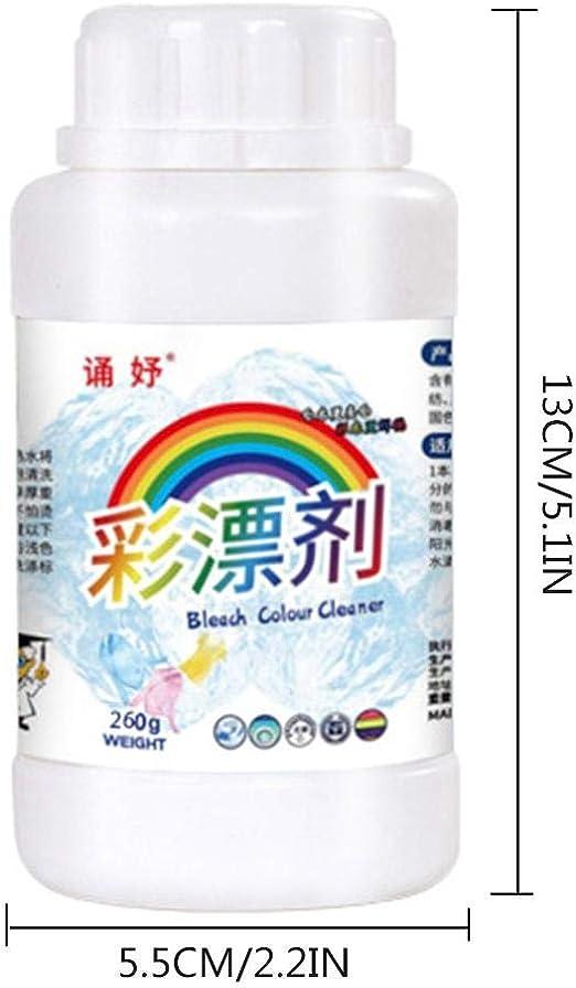 Rikey 1 unid Color Bleach Powder Cleaner Detergente para el hogar Jabón Detergente en Polvo Detergente para la Ropa Zapatos para Polvo Olor Quitamanchas Color Bleach 220g: Amazon.es: Hogar