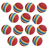Ovedcray home series 20pcs Foam Sponge Golf Training Soft Balls Elastic Indoor Practice Rainbow