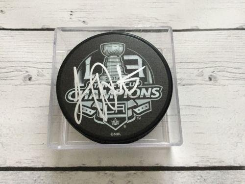 Luc Robitaille Autographed Hockey Puck - 2014 LA Stanley Cup a - Autographed NHL Pucks by Sports Memorabilia