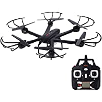 MJX X601H 2.4G 4CH 4 Channel RC Drone Hexacopter 6 Axis Gyro with HD Camera WIFI APP Real-Time Control Hold One Key Return Headless Helicopter RTF Black
