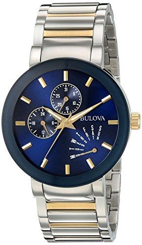 Bulova Men's Quartz Stainless Steel Dress Watch, Color:Two T...